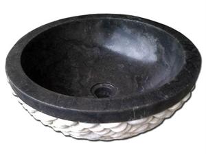 Εικόνα της Νιπτήρας Μαύρος Πέπλα Λευκή